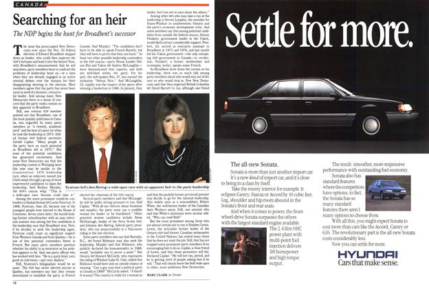 Article Preview: Searching for an heir, March 1989 | Maclean's