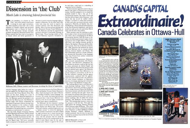 Article Preview: Dissension in 'the Club', March 1989 | Maclean's
