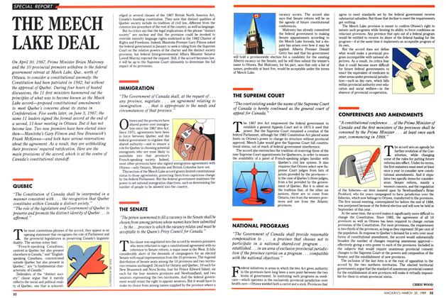 Article Preview: THE MEECH LAKE DEAL, March 1989 | Maclean's