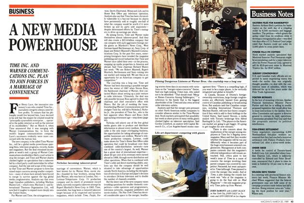 Article Preview: A NEW MEDIA POWERHOUSE, March 1989 | Maclean's