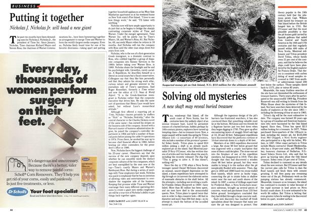 Article Preview: Solving old mysteries, March 1989 | Maclean's