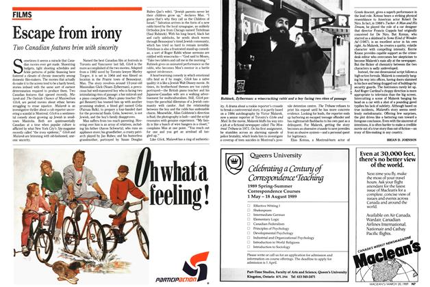 Article Preview: Escape from irony, March 1989 | Maclean's