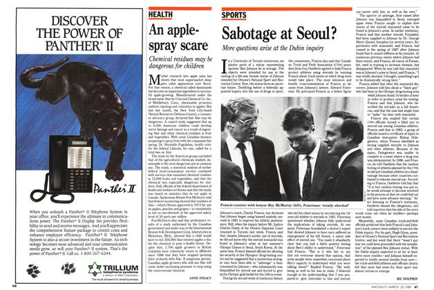 Article Preview: An apple-spray scare, March 1989 | Maclean's