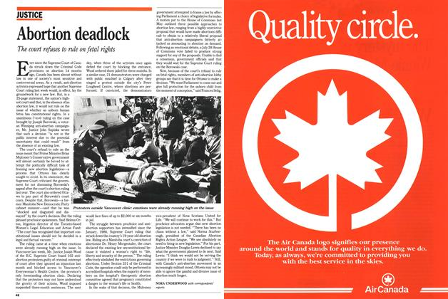 Article Preview: Abortion deadlock, March 1989 | Maclean's