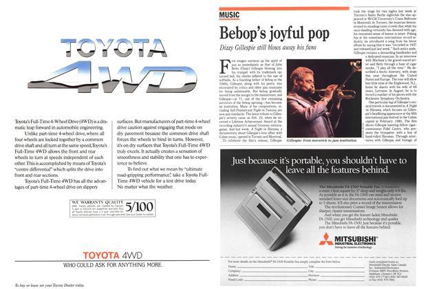 Article Preview: Bebop's joyful pop, March 1989 | Maclean's