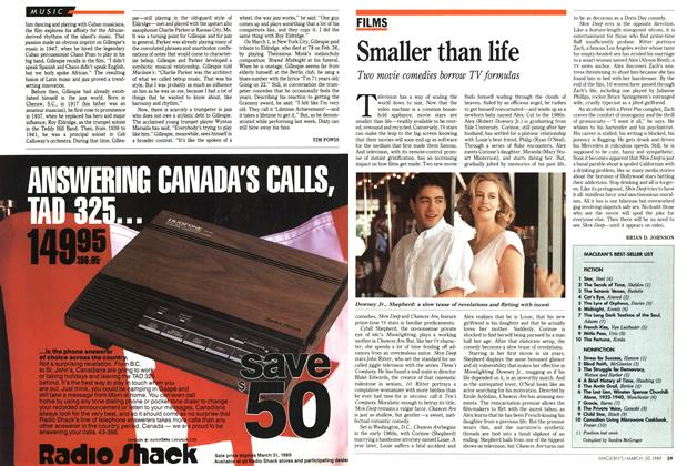 Article Preview: Smaller than life, March 1989 | Maclean's