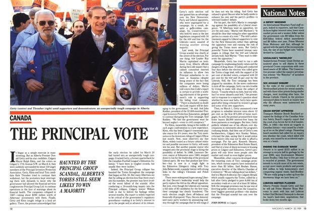 Article Preview: THE PRINCIPAL VOTE, March 1989 | Maclean's