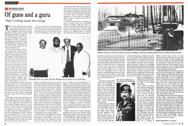 Article Preview: Of guns and a guru, March 1989 | Maclean's