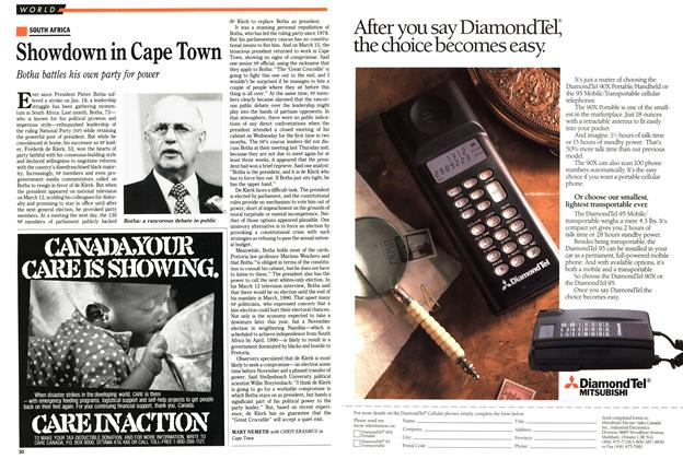Article Preview: Showdown in Cape Town, March 1989 | Maclean's