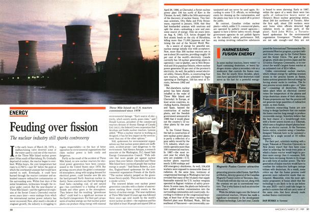 Article Preview: Feuding over fission, March 1989 | Maclean's