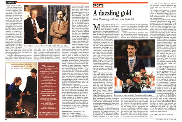Article Preview: A dazzling gold, March 1989 | Maclean's