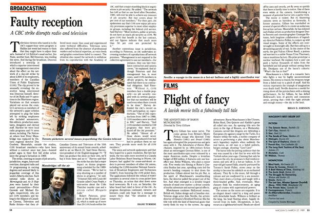 Article Preview: Flight of fancy, March 1989 | Maclean's