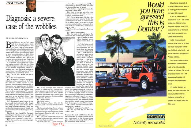 Article Preview: Diagnosis: a severe case of the wobblies, March 1989 | Maclean's