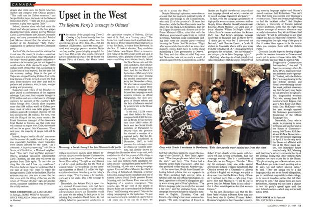 Article Preview: Upset in the West, March 1989 | Maclean's