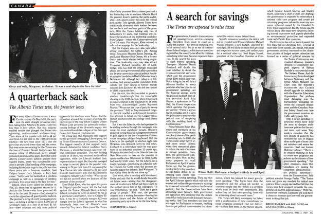 Article Preview: A search for savings, April 1989 | Maclean's