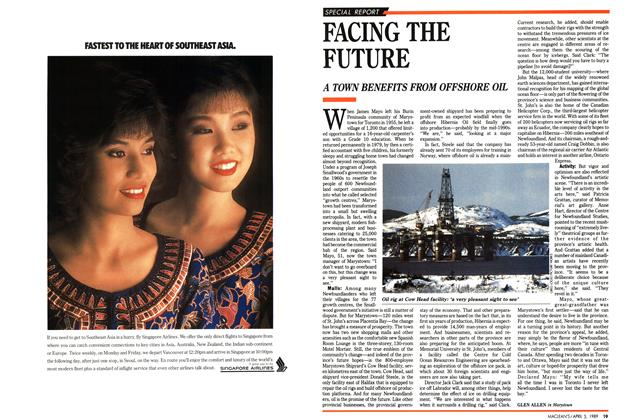 Article Preview: FACING THE FUTURE, April 1989 | Maclean's