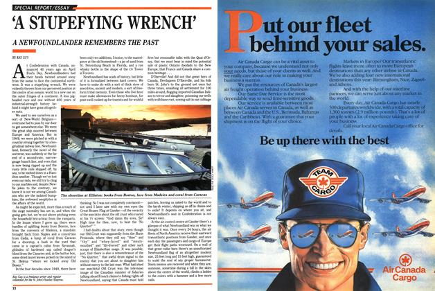 Article Preview: 'A STUPEFYING WRENCH', April 1989 | Maclean's