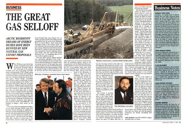 Article Preview: THE GREAT GAS SELLOFF, April 1989 | Maclean's