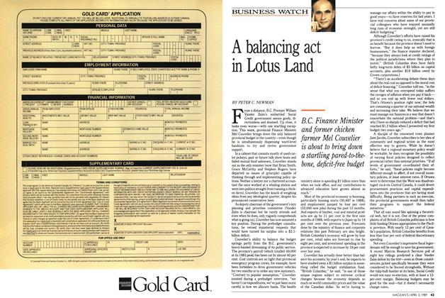 Article Preview: A balancing act in Lotus Land, April 1989 | Maclean's