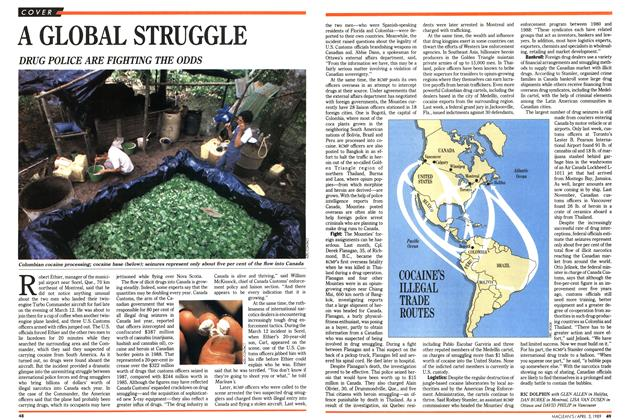 Article Preview: A GLOBAL STRUGGLE, April 1989 | Maclean's