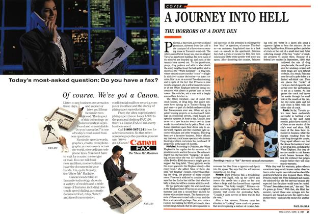 Article Preview: A JOURNEY INTO HELL, April 1989 | Maclean's