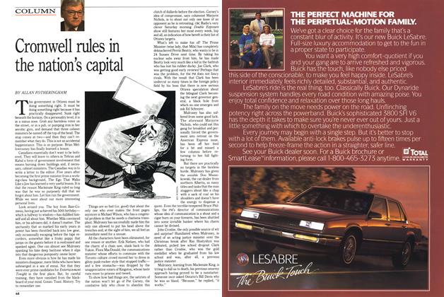 Article Preview: Cromwell rules in the nation's capital, April 1989 | Maclean's