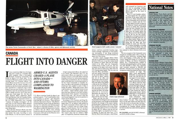 Article Preview: FLIGHT INTO DANGER, April 1989 | Maclean's