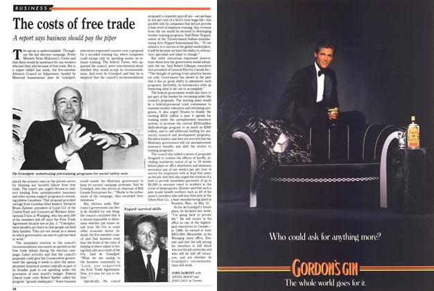 Article Preview: The costs of free trade, April 1989 | Maclean's