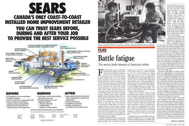 Article Preview: Battle fatigue, April 1989 | Maclean's