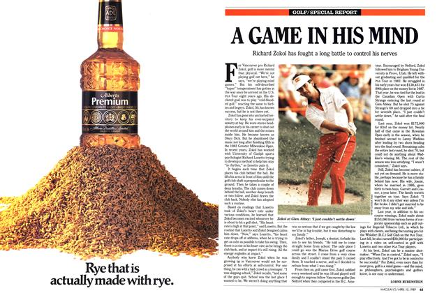 Article Preview: A GAME IN HIS MIND, April 1989   Maclean's