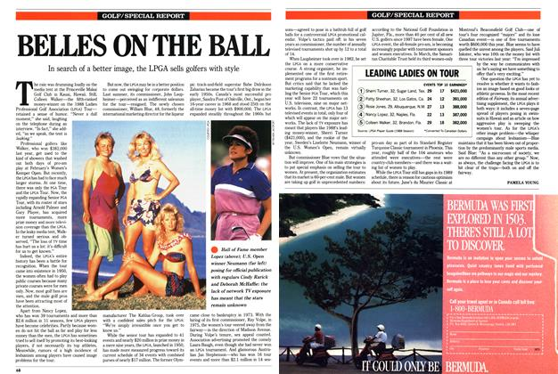 Article Preview: BELLES ON THE BALL, April 1989 | Maclean's