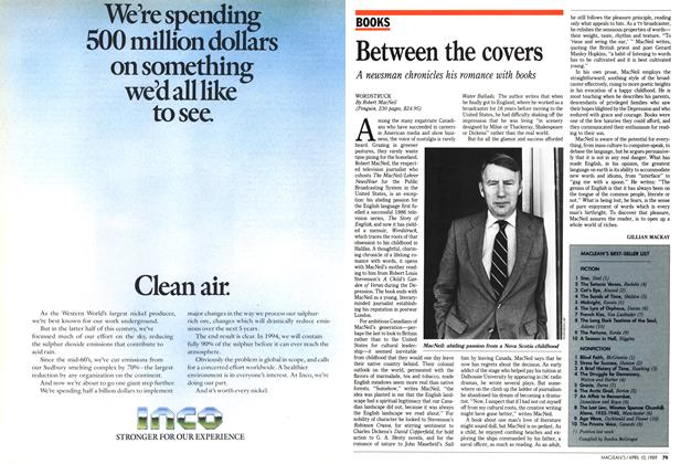 Article Preview: Between the covers, April 1989 | Maclean's
