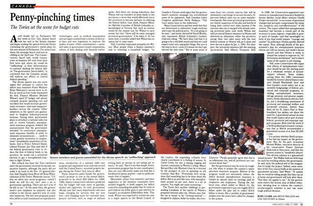 Article Preview: Penny-pinching times, April 1989 | Maclean's