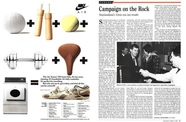 Article Preview: Campaign on the Rock, April 1989 | Maclean's