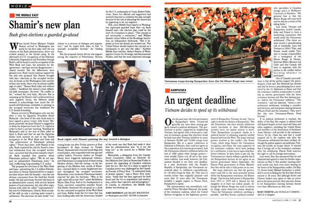Article Preview: An urgent deadline, April 1989 | Maclean's