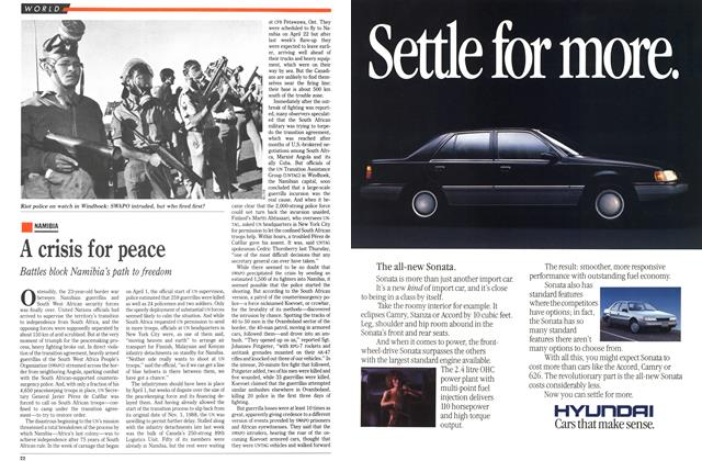 Article Preview: A crisis for peace, April 1989 | Maclean's