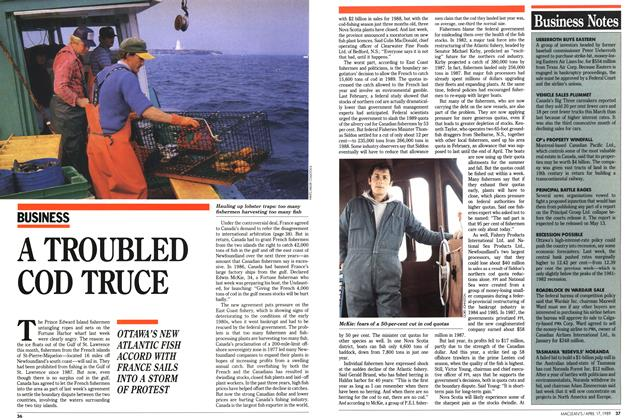 Article Preview: A TROUBLED COD TRUCE, April 1989 | Maclean's