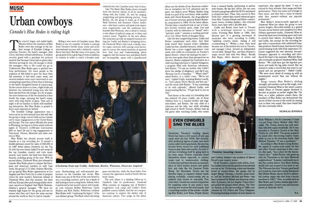 Article Preview: Urban cowboys, April 1989 | Maclean's