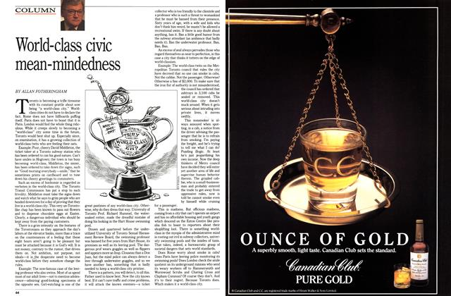 Article Preview: World-class civic mean-mindedness, April 1989   Maclean's