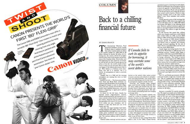 Article Preview: Back to a chilling financial future, April 1989 | Maclean's
