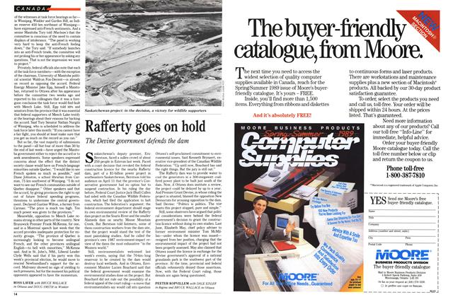 Article Preview: Rafferty goes on hold, April 1989 | Maclean's