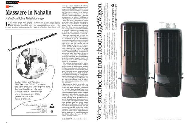 Article Preview: Massacre in Nahalin, April 1989 | Maclean's