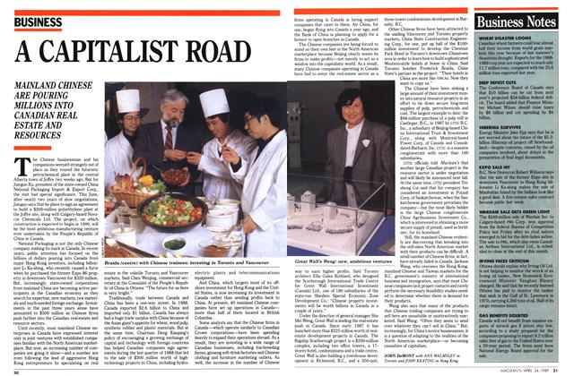 Article Preview: A CAPITALIST ROAD, April 1989 | Maclean's