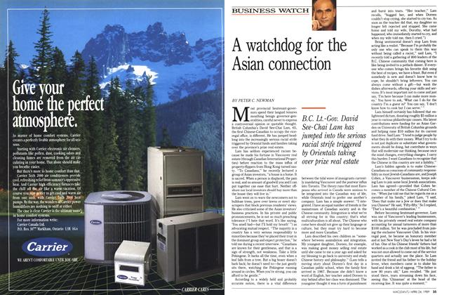 Article Preview: A watchdog for the Asian connection, April 1989 | Maclean's