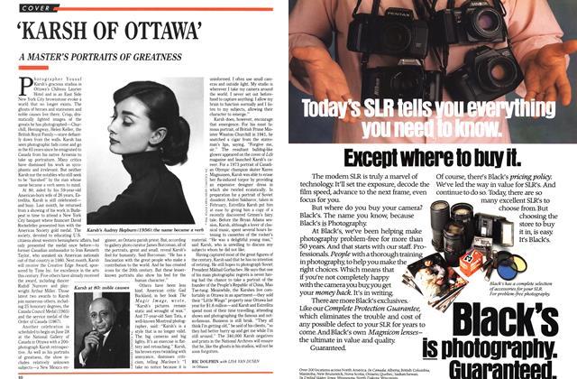 Article Preview: 'KARSH OF OTTAWA', April 1989 | Maclean's