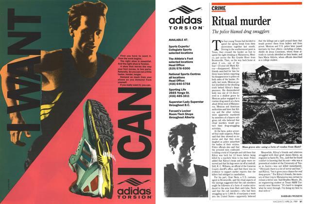 Article Preview: Ritual murder, April 1989 | Maclean's