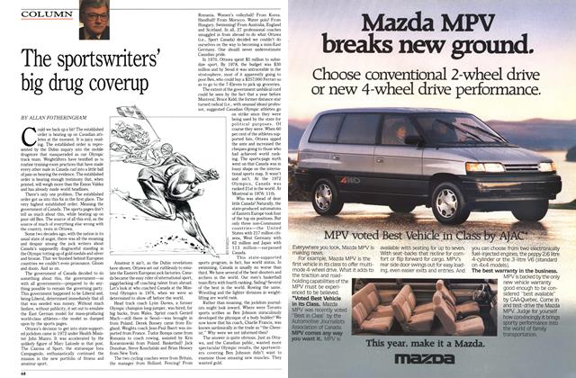 Article Preview: The sportswriters' big drug coverup, April 1989 | Maclean's