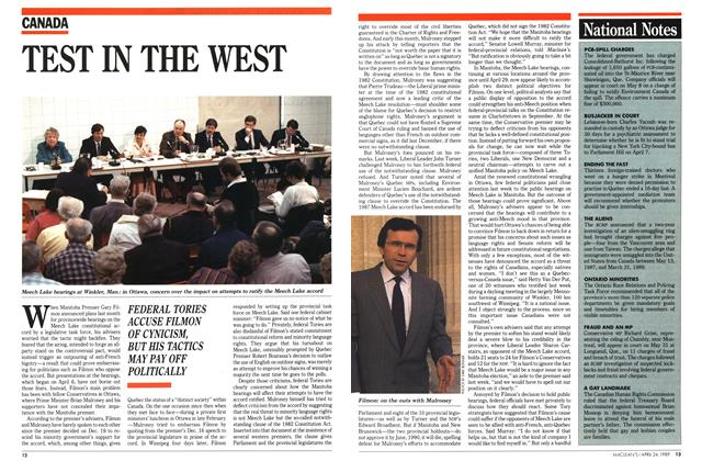 Article Preview: TEST IN THE WEST, April 1989 | Maclean's