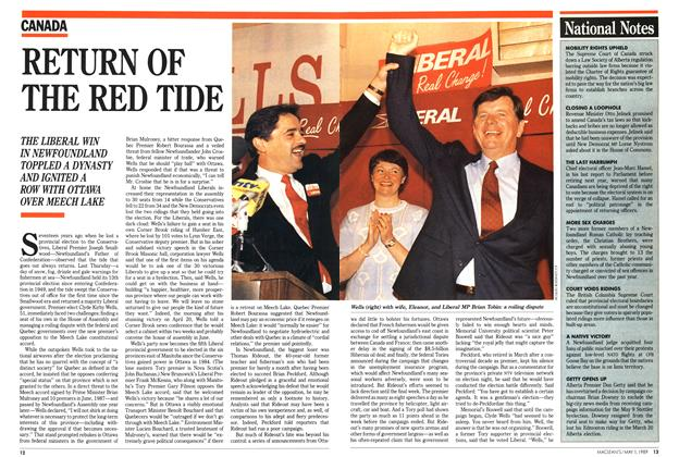 Article Preview: RETURN OF THE RED TIDE, May 1989 | Maclean's