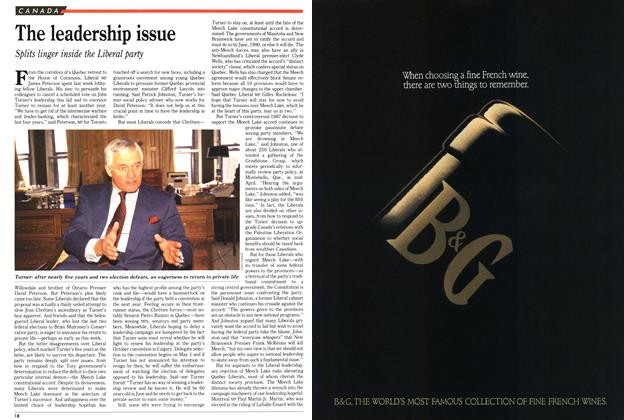 Article Preview: The leadership issue, May 1989 | Maclean's